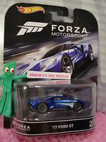 Forza Motorsport 2/5 '17 Ford Gt☆blue ;real Riders☆2016 Hot Wheels Retro
