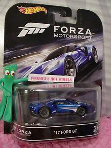 Forza Motorsport 2016 Hot Wheels Retro Entertainment D Case 17 FORD GT