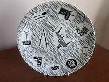 Vintage Plate Homemaker Ridgway Potteries Retro Black White