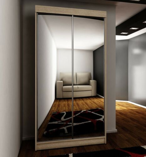 Kleiderschrank Sparkle 21 100 cm mit Spiegel Flur Diele Schlafzimmer Farbauswahl