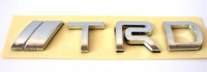 Chrome-Silver-TRD-Emblem-For-Toyota-Land-Cruiser-FJ-Cruiser-4Runner-RAV4-Sequoia