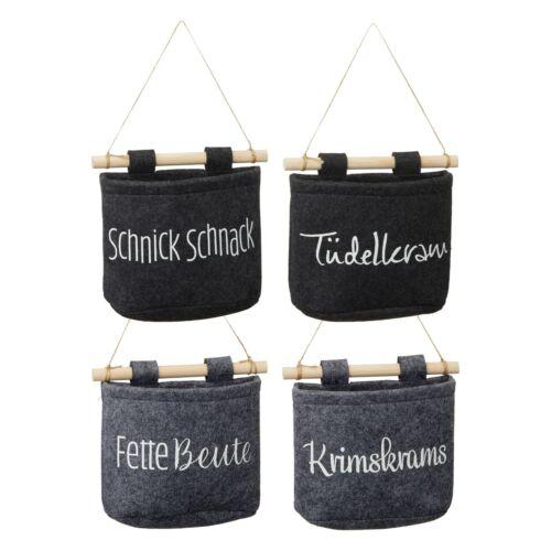 Aufbewahrung Tasche Box  verschiedene Sprüche Filz  15 cm hoch  Motivwahl