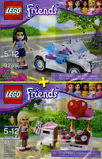 LEGO Friends #30103, #30105 - Emma's Cabriolet + Stephanie's Mailbox - NEW