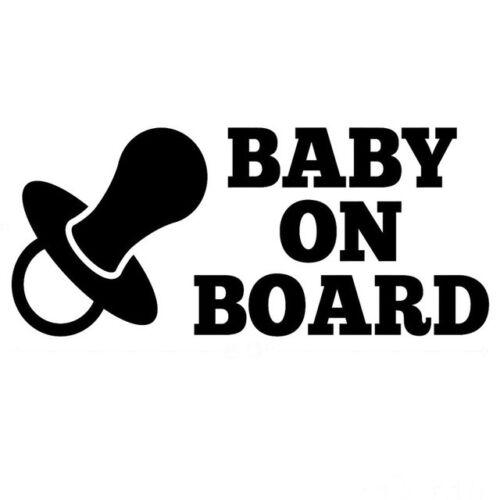Baby on board CAR styling girls boys VINYL sticker CAR DECAL 20x9cm