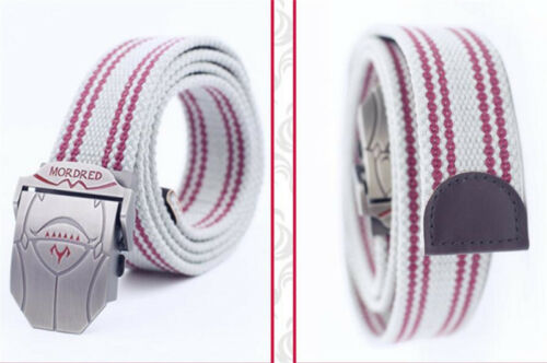 Fate Grand Order Saber Mordred Anime Canvas Cotton Belt Waistband Cosplay Gift