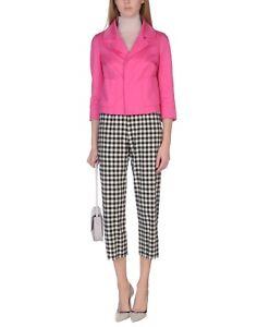 Dsquared2 Button S75bn0310 Rrp 500 Clip Blazer mezzi Women's Rare 00 On Pink FOFUq