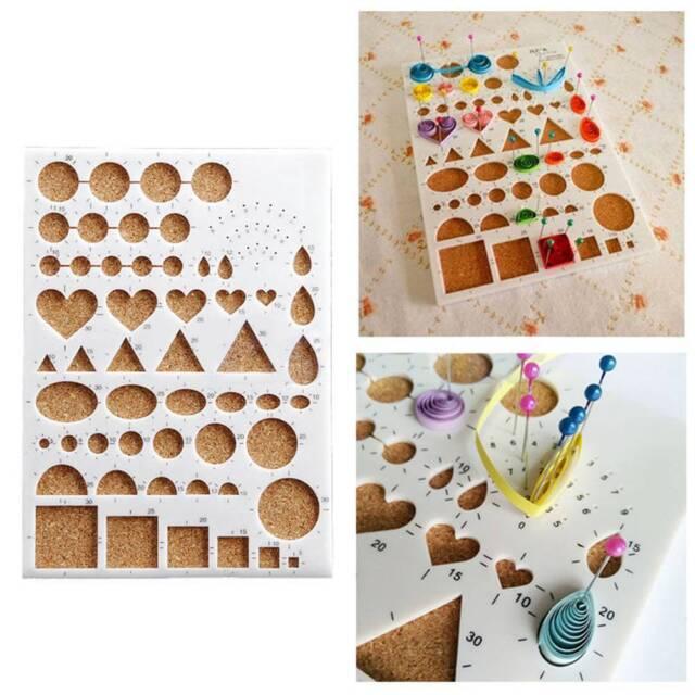 1PC DIY Crafts Paper Quilling Template Mould Board Papercraft Crimper Art Tools