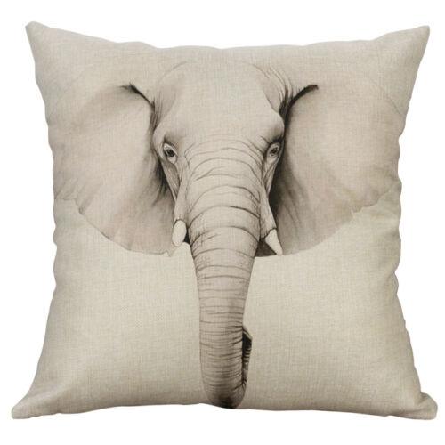 Beer Horse Deer Pillow Case Sofa Car Waist Throw Cushion Cover Home Decoration