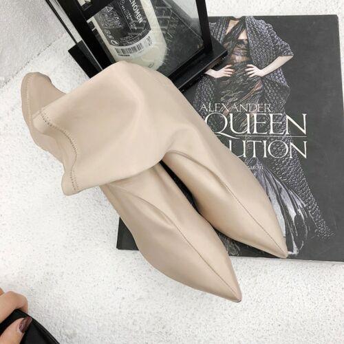 tacco elastico da tacchi con in a con alti donna punta Nuovi raso qXw6PP