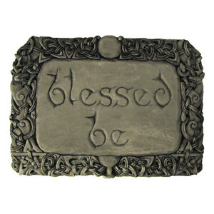 Blessed Be Wall Plaque | Stone Finish | Dryad Designs | Wiccan Wicca