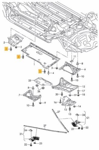 NUOVO Originale Volkswagen Audi Push Fit Spatola Rivetti 4PCS Set 8E0825267