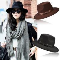Women Men Unisex Vintage Blower Jazz Hat Trilby Derby Cap Fedora Style Hats SP