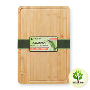 18 X12 Bamboo Cutting Board Large Wood Kitchen Butcher Carving