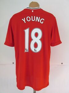 competitive price 49fba df6a0 Details about MANCHESTER UNITED 2011/2012 HOME SHIRT SOCCER JERSEY #18  ASHLEY YOUNG NIKE (XL)