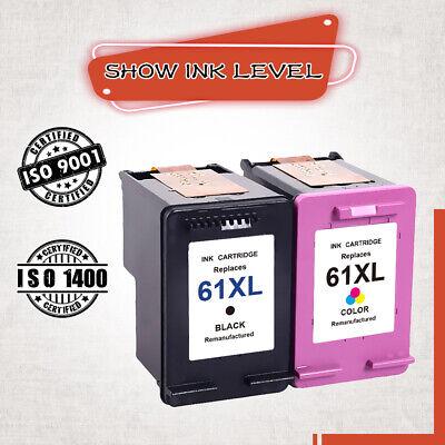 4-pk HP 61XL Blk//Clr Deskjet 1512 2050 2510 2512 2514 2540 2541 2542 2543