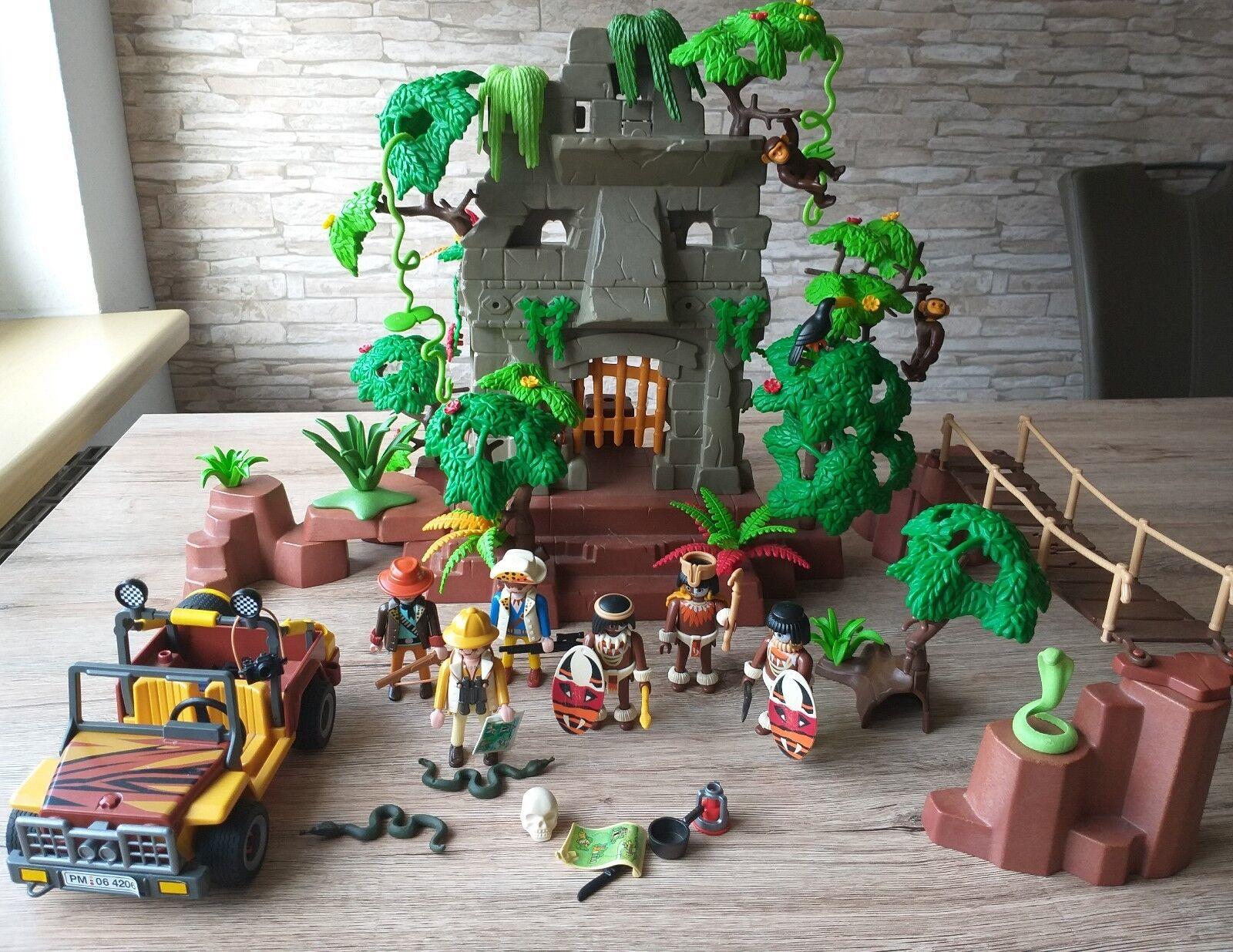 Playmobil 3015 3018 Dschungelruine Dschungelexpedition Figure Tiere Action RAR