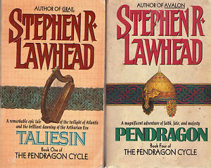 Complete-Lot-Set-of-6-Pendragon-Books-by-Stephen-R-Lawhead-Fantasy