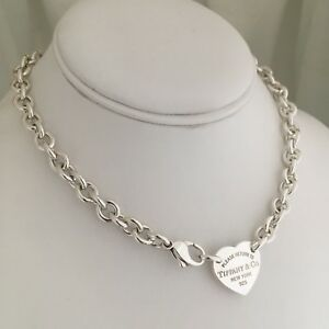 7691b4d74 Please Return to Tiffany & Co Center Heart Tag Sterling Silver ...
