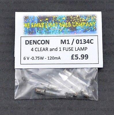 NOMA DENCON M1 6V 0.75W LES SCREW CAP 0134M CLEAR BAGGED LAMPS 1250