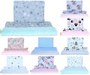 Minky  Baby Kinderwagenset  Kuscheldecke Kinder Decke Kissen