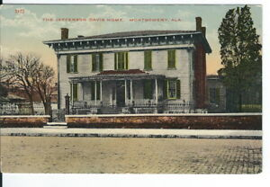 CB-059-AL-Montgomery-Jefferson-Davis-Home-Divided-Back-Postcard-Exterior-View