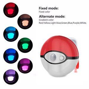 Colorful Pokeball Lightbowl Led Motion Sensor Automatic