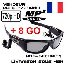 LUNETTES SOLEIL CAMERA MP3 SPORT HD 720P 8 GO ESPION 1280x720 SUNGLASSES