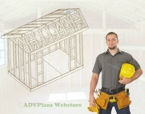6X10 SALTBOX STORAGE SHED, 26 BARN PLANS BUILD YOUR OWN, ORIGINAL BARN PLANS