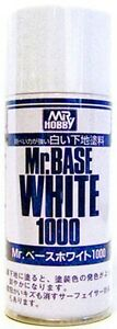Mr-Hobby-Base-White-1000-180ml-Spray-B518-Gunze-GSI-Creos-Paint-Primer-Tool-New