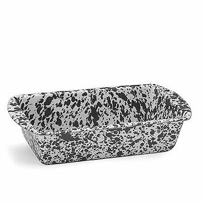 Crow Canyon Home Marbled Enamelware Bread Loaf Baking Pan Spatterware