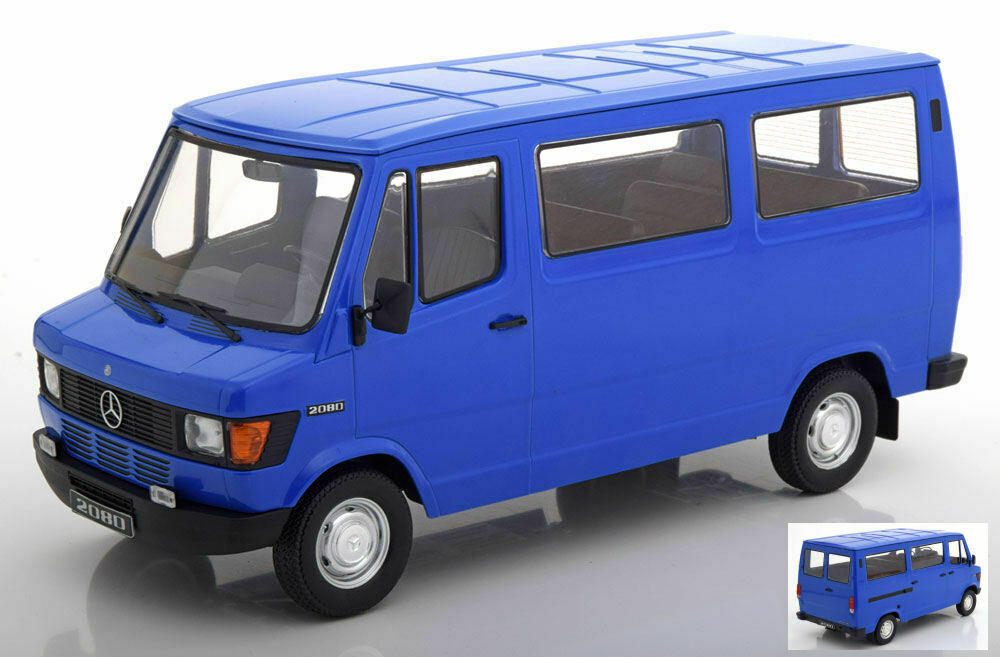 MERCEDES 208d Bus Van azul 1 18 MODEL KK scale