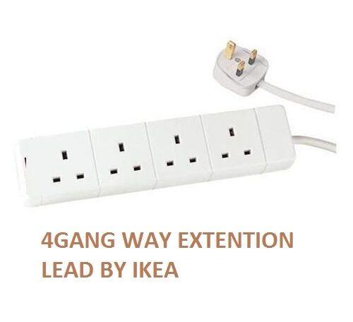 4 Way 4 Gang extension lead complément de plomb 1.5 m 4 Douilles//Gang 13 A Plug par IKEA 0
