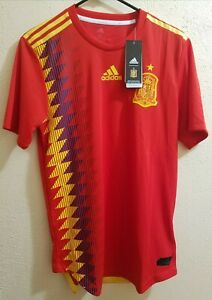 more photos 35c11 b0a8f Details about Adidas Spain Home Authentic Jersey 2018 World Cup Men's Size  XL BR2724 $130