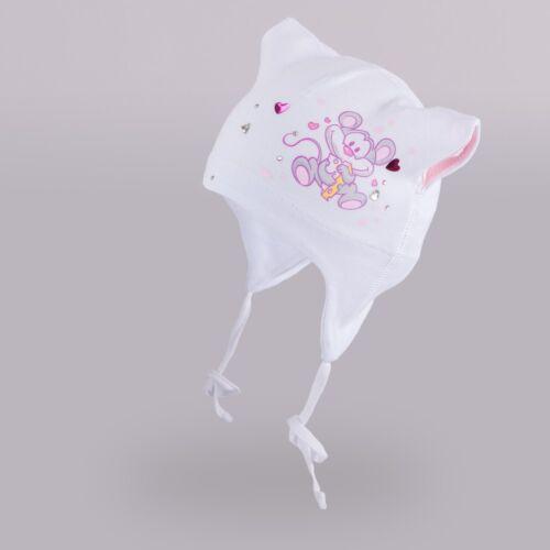 Baby Mütze Mädchen Mütze Babymütze Erstlingsmütze Säuglingsmütze Straß 38-46