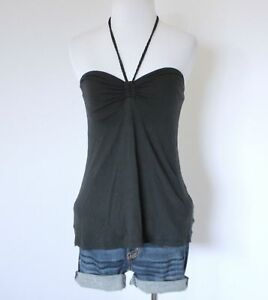 b7f76883004 Details about OLD NAVY Sweetheart Halter BRA Babydoll Stretch Knit Blouse Tube  Top Shirt XS