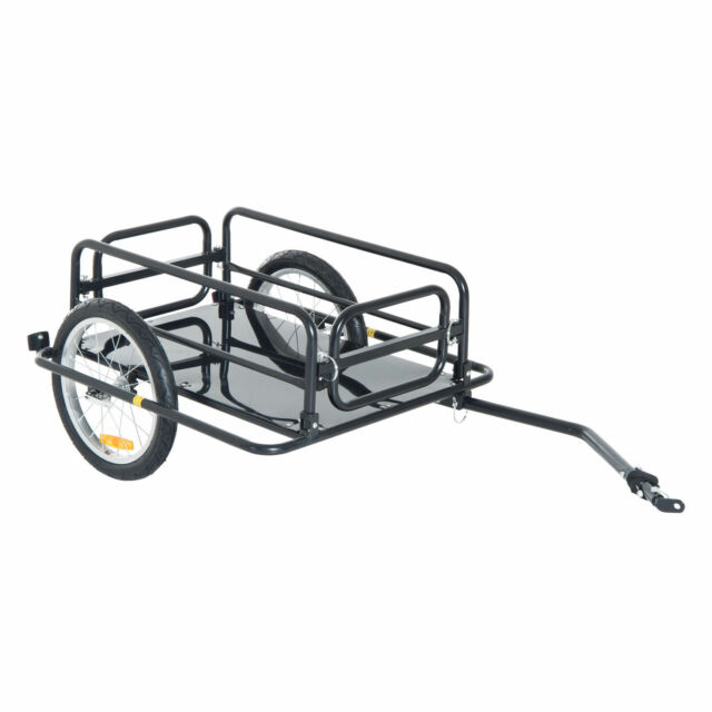 Aosom Wanderer Bicycle Bike Trailer for Cargo Luggage Carrier Hold ...