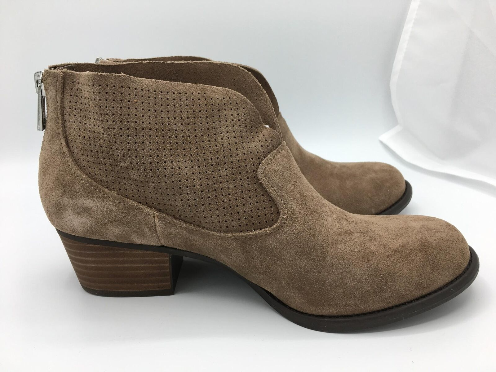 Jessica Simpson Dacia Split Suede Bootie (1457) Totally Taupe Size 8.5M