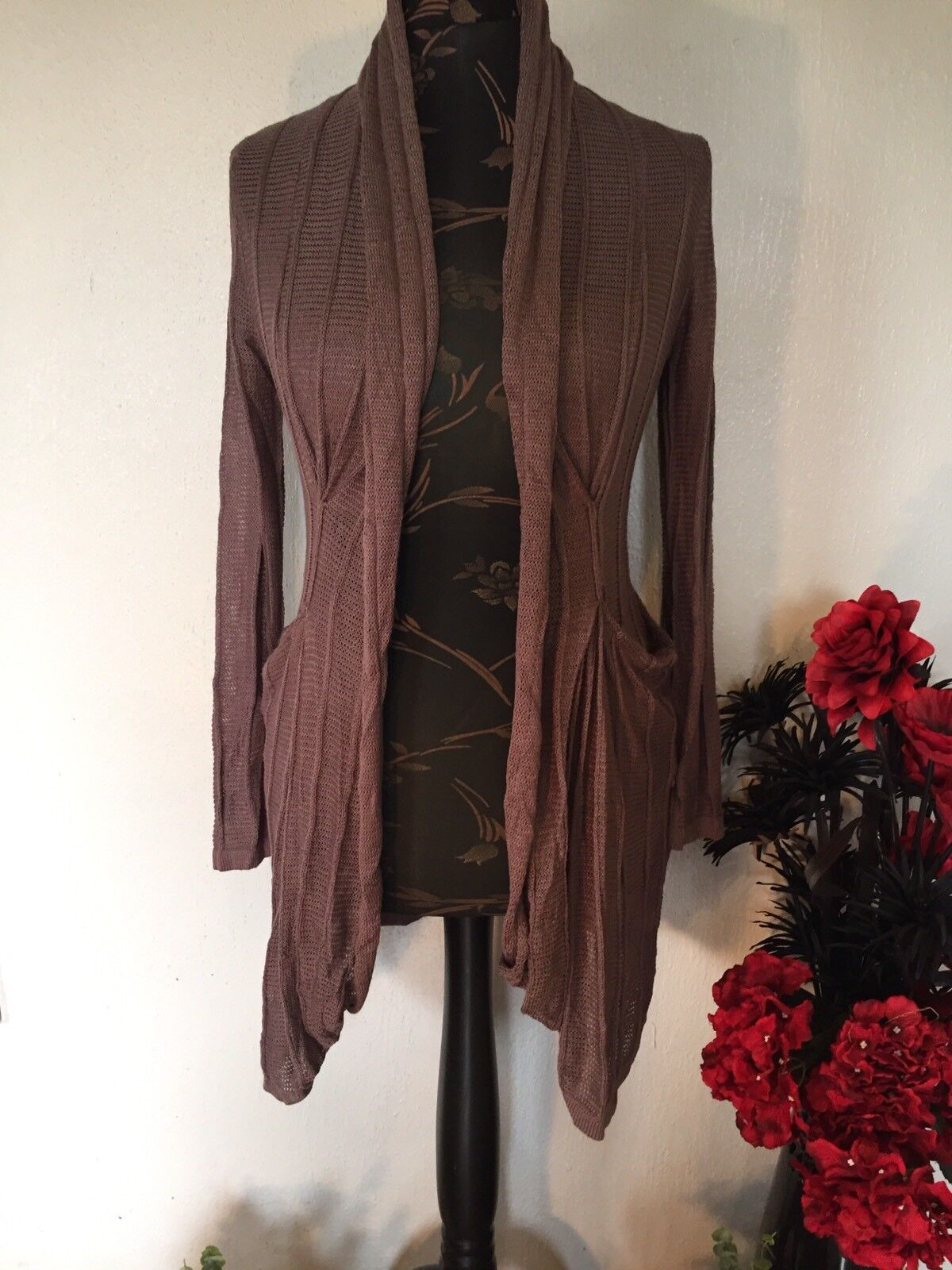 SALE CARDIGAN WRAP BY BOHEMIA OF SWEDEN BOHEMIAN, HIPPY, LAGENLOOK. SIZE M