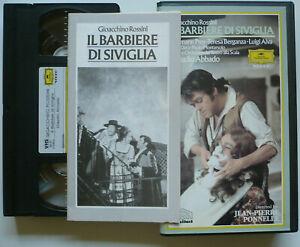 ROSSINI-Il-barbiere-di-Siviglia-VHS-gt-Abbado-Alva-Dara-Berganza-Prey