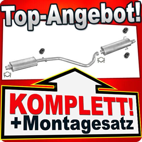 Auspuff PEUGEOT 306 1.4 1.6 1.8 1.9 D Schrägheck CHROM Endrohr Auspuffanlage F19