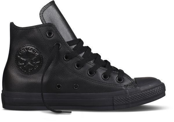 Converse Chucks Sneaker All Star Klassik Schuhe Sneaker Chucks Schwarz Echtleder Lederchucks 81ab09