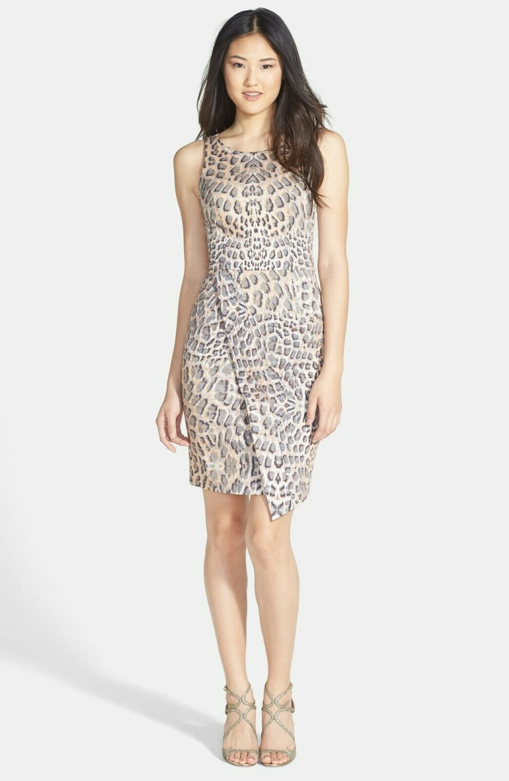 Bardot Tusk Animal Print Stretch Sheath Dress US Größe XS X-Small 4  NWT
