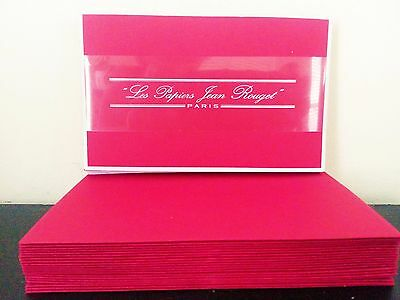 EXQUISITE Prestige Printing Red High Quality Notes Les Papiers Jean Rouget Paris