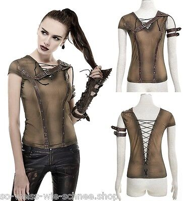 Punk Rave Steampunk Gear Shirt Gothic Top Endzeit Vintage LARP Mad Diesel T433 k