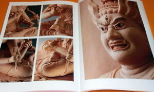 Carved Ragaraja sculpture book japanese,buddhist,statue,buddharupa (0543)