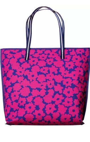 Estee Lauder Large Pink Blue Purple Daisy Flowers Floral Tote Bag Purse Shopper