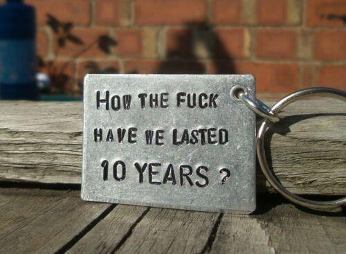 10 años divertido 10th Regalos Aniversario de Bodas Aluminio Estaño esposo esposa Amor