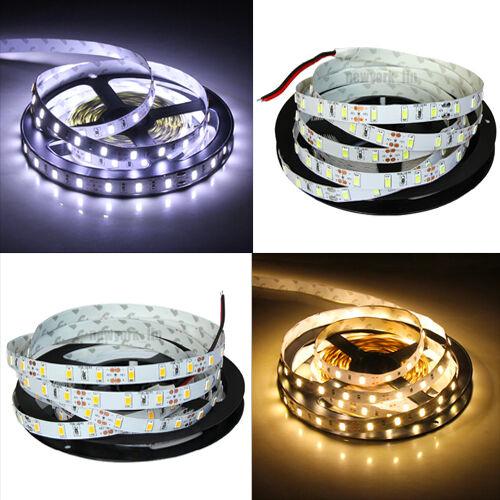 5630 5m 500cm Cool White or Warm White 300SMD Flexible LED Strip Light DC 12V