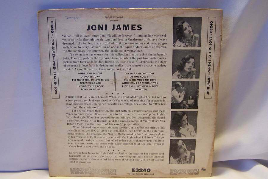 Joni James - When I Fall In Love LP Vinyl Record Album