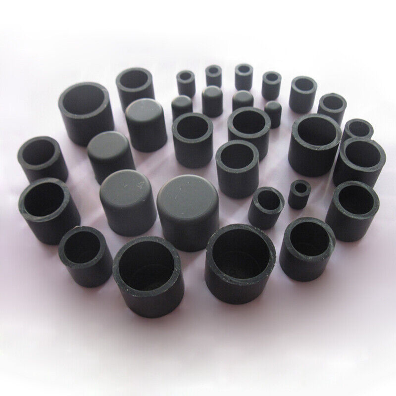 Black Silicone Rubber Hose End Blanking Cover Caps Cap Heat Resist 2.8~60.5mm